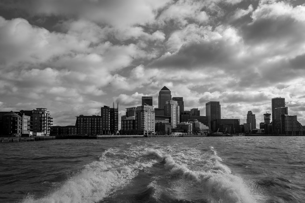 Canary wharf from the water